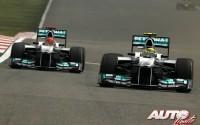 Nico Rosberg, Michael Schumacher y Mercedes-Benz fueron el equipo a batir en el Gran Premio de China de 2012, obteniendo Rosberg su primera victoria en un Gran Premio de Fórmula 1.
