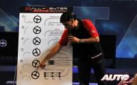 Lucas Cruz (Campeón del Rallye Dakar, junto a Carlos Sainz) explicando cómo hay que hacer la toma de notas que leen los copilotos en los tramos de rally.