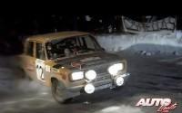 Antonio Zanini con el SEAT 124/1.800 Grupo 4 pasando por el Col de Turini en el Rallye de Montecarlo de 1977.