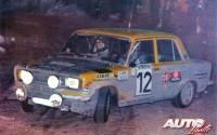 Antonio Zanini con el SEAT 124/1.800 Grupo 4 en su paso por el Turini en el Montecarlo 77.