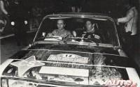 Antonio Zanini y Petisco en el Rallye de Montecarlo de 1977.
