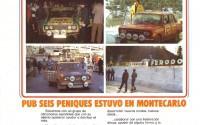 Cartel publicado en la prensa sobre la expedición del Pub Seis Peniques al Rallye de Montecarlo 1977.