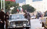 El Abuelete del M3 saludando a Salvador Serviá en el Principado de Mónaco.