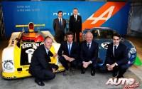 De izquierda a derecha y de arriba a abajo: Pierre Fillon (Presidente del ACO), Carlos Tavares (Renault), Philippe Sinault (Signatech), Nelson Panciatici (Piloto), Didier Calmels (Signatech) y Pierre Ragues (Piloto).