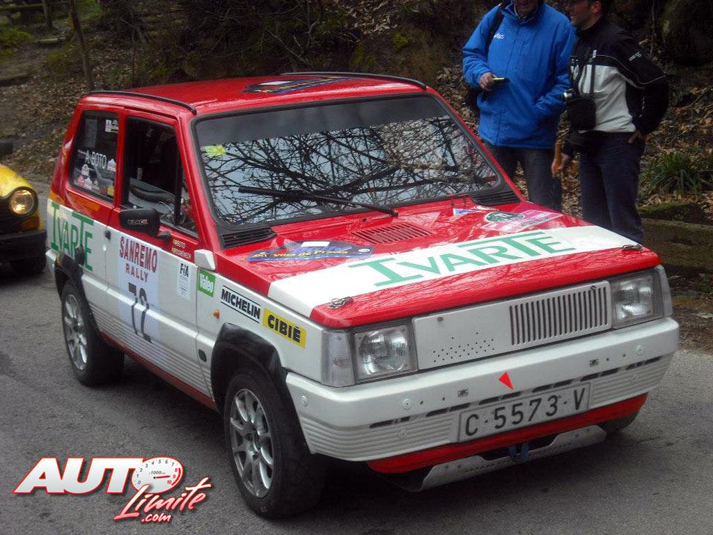 Joaquín Domenech y Antonio Boto con su Seat Panda 40 en el Rally Sanremo Histórico de 2013.
