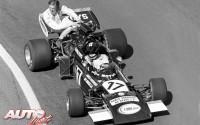 Es posible que el alerón trasero no sea el lugar más adecuado para sentarse en un Fórmula 1, pero ahí se acomodó Ronnie Petterson en el March 711-Cosworth V8 de José Carlos Pace durante el Gran Premio de Francia de 1972, disputado en el circuito de Charade.