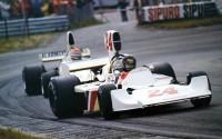 James Hunt obtuvo su primera victoria en Fórmula 1 en el GP de Holanda de 1975, al volante del Hesketh-Ford 308 B.
