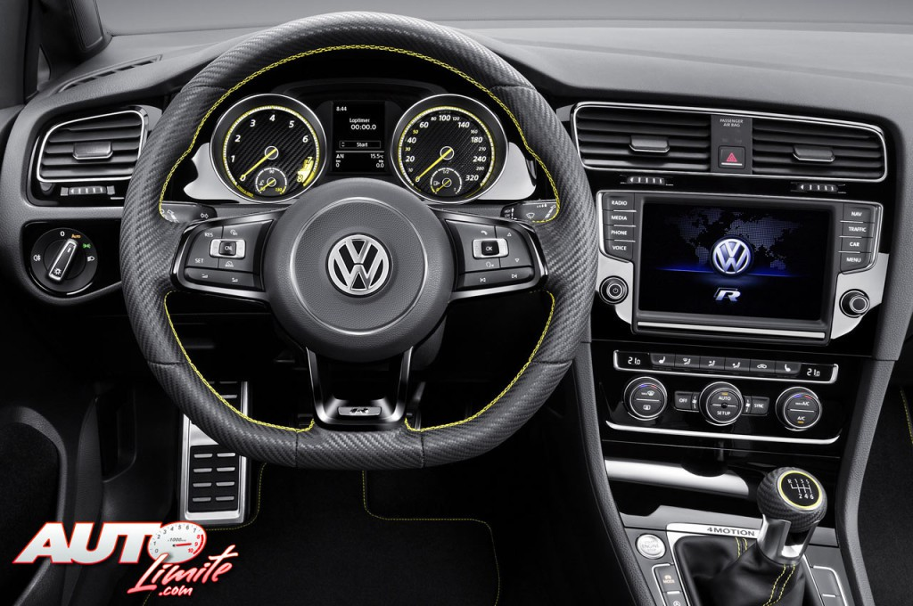 volkswagen golf r 400 concept interior 01. Black Bedroom Furniture Sets. Home Design Ideas