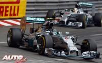 El scalextric de Rosberg. GP de Mónaco 2014