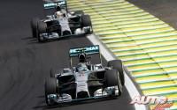 Rosberg se mantiene en la lucha. GP de Brasil 2014