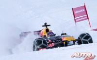 Red Bull F1 calienta motores sobre la nieve