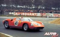 El Ferrari 250 P en las 24 Horas de Le Mans de 1963.