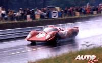 Ferrari 312 P Berlinetta del equipo NART durante las 24 Horas de Le Mans de 1970.