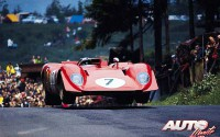 Ferrari 312 P Barchetta pilotado por Pedro Rodríguez durante los 1.000 Kilómetros de Nürburgring de 1969.