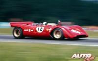 Ferrari 612 Can Am pilotado por Chris Amon, durante la prueba del Campeonato Can Am 1969 disputada en el circuito de Watkins Glen.
