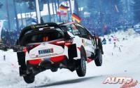 Jari-Matti Latvala, al volante del Toyota Yaris WRC, durante el Rallye de Suecia 2017, puntuable para el Campeonato del Mundo de Rallyes WRC.