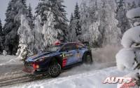 Dani Sordo, al volante del Hyundai i20 Coupé WRC, durante el Rallye de Suecia 2017, puntuable para el Campeonato del Mundo de Rallyes WRC.