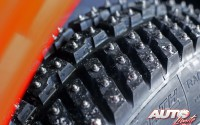 Neumáticos de clavos en el Rally de Suecia 2017, puntuable para el Campeonato del Mundo de Rallies WRC.
