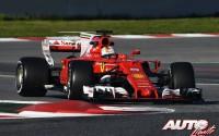 Sebastian Vettel, al volante del Ferrari SF70H, durante los entrenamientos de pretemporada disputados en el Circuito de Montmeló.