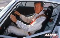 Walter Röhrl al volante del Porsche 911 Carrera Supercup de 1994.