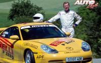 Walter Röhrl con el Porsche 911 GT3 en 2001.