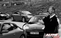 Walter Röhrl participando en un curso de conducción de la Escuela Porsche en 2002.