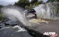 Esapekka Lappi, al volante del Toyota Yaris WRC, durante el Rally de Argentina 2018, puntuable para el Campeonato del Mundo de Rallies WRC.