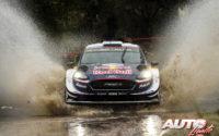 Teemu Suninen, al volante del Ford Fiesta WRC, durante el Rally de Argentina 2018, puntuable para el Campeonato del Mundo de Rallies WRC.