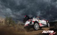 Jari-Matti Latvala, al volante del Toyota Yaris WRC, durante el Rally de Argentina 2018, puntuable para el Campeonato del Mundo de Rallies WRC.