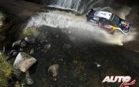 Elfyn Evans, al volante del Ford Fiesta WRC, durante el Rally de Argentina 2018, puntuable para el Campeonato del Mundo de Rallies WRC.