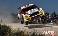 Nils Solans, al volante del Ford Fiesta R5 WRC2, durante el Rally de Argentina 2018, puntuable para el Campeonato del Mundo de Rallies WRC2.
