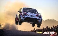 Ott Tänak, al volante del Toyota Yaris WRC, ganador del Rally de Argentina 2018, puntuable para el Campeonato del Mundo de Rallies WRC.