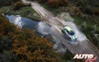 Kalle Rovanperä, al volante del Skoda Fabia R5 WRC2, durante el Rally de Argentina 2018, puntuable para el Campeonato del Mundo de Rallies WRC2.