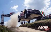 Elfyn Evans, al volante del Ford Fiesta WRC, durante el Rally de Portugal 2018, puntuable para el Campeonato del Mundo de Rallies WRC.