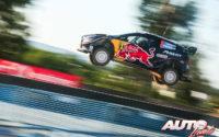 Teemu Suninen, al volante del Ford Fiesta WRC, durante el Rally de Portugal 2018, puntuable para el Campeonato del Mundo de Rallies WRC.