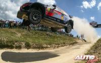 Dani Sordo, al volante del Hyundai i20 Coupé WRC, durante el Rally de Portugal 2018, puntuable para el Campeonato del Mundo de Rallies WRC.
