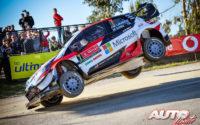Jari-Matti Latvala, al volante del Toyota Yaris WRC, durante el Rally de Portugal 2018, puntuable para el Campeonato del Mundo de Rallies WRC.