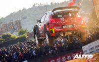 Kris Meeke, al volante del Citroën C3 WRC, durante el Rally de Portugal 2018, puntuable para el Campeonato del Mundo de Rallies WRC.