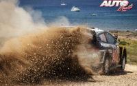Elfyn Evans, al volante del Ford Fiesta WRC, durante el Rally de Italia 2018, puntuable para el Campeonato del Mundo de Rallies WRC.