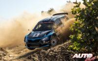 Lukasz Pieniazek, al volante del Skoda Fabia R5 WRC2, durante el Rally de Portugal 2018, puntuable para el Campeonato del Mundo de Rallies WRC2.