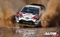 Ott Tänak, al volante del Toyota Yaris WRC, durante el Rally de Italia 2018, puntuable para el Campeonato del Mundo de Rallies WRC.