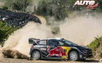 Sébastien Ogier, al volante del Ford Fiesta WRC, durante el Rally de Portugal 2018, puntuable para el Campeonato del Mundo de Rallies WRC.