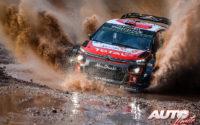 Mads Ostberg, al volante del Citroën C3 WRC, durante el Rally de Italia 2018, puntuable para el Campeonato del Mundo de Rallies WRC.