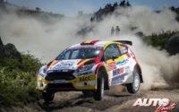 Nils Solans, al volante del Ford Fiesta R5 WRC2, durante el Rally de Portugal 2018, puntuable para el Campeonato del Mundo de Rallies WRC2.