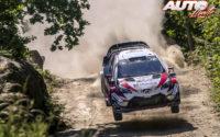 Esapekka Lappi, al volante del Toyota Yaris WRC, durante el Rally de Portugal 2018, puntuable para el Campeonato del Mundo de Rallies WRC.