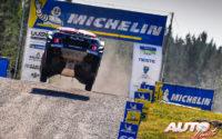 Craig Breen, al volante del Citroën C3 WRC, durante el Rally de Finlandia 2018, puntuable para el Campeonato del Mundo de Rallies WRC.