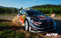 Teemu Suninen, al volante del Ford Fiesta WRC, durante el Rally de Alemania 2018, puntuable para el Campeonato del Mundo de Rallies WRC.