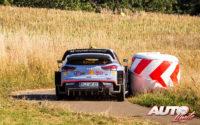 Andreas Mikkelsen, al volante del Hyundai i20 Coupé WRC, durante el Rally de Alemania 2018, puntuable para el Campeonato del Mundo de Rallies WRC.