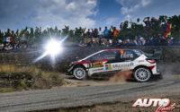 Esapekka Lappi, al volante del Toyota Yaris WRC, durante el Rally de Alemania 2018, puntuable para el Campeonato del Mundo de Rallies WRC.
