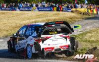 Jari-Matti Latvala, al volante del Toyota Yaris WRC, durante el Rally de Alemania 2018, puntuable para el Campeonato del Mundo de Rallies WRC.